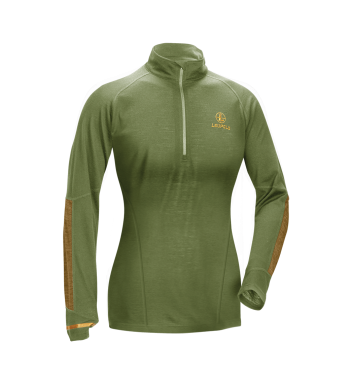 Women's Secluded Base Layer 1/2 Zip Shadow Green, S