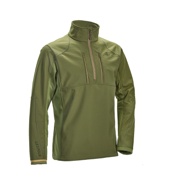 Secluded 1/2 Zip Shadow Green, M