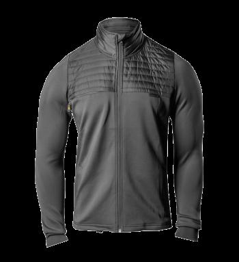 Half-Zip Puff Neoprene Jacket Charcoal
