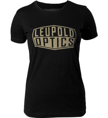 Women's Gold Badge Premium Tee - Black