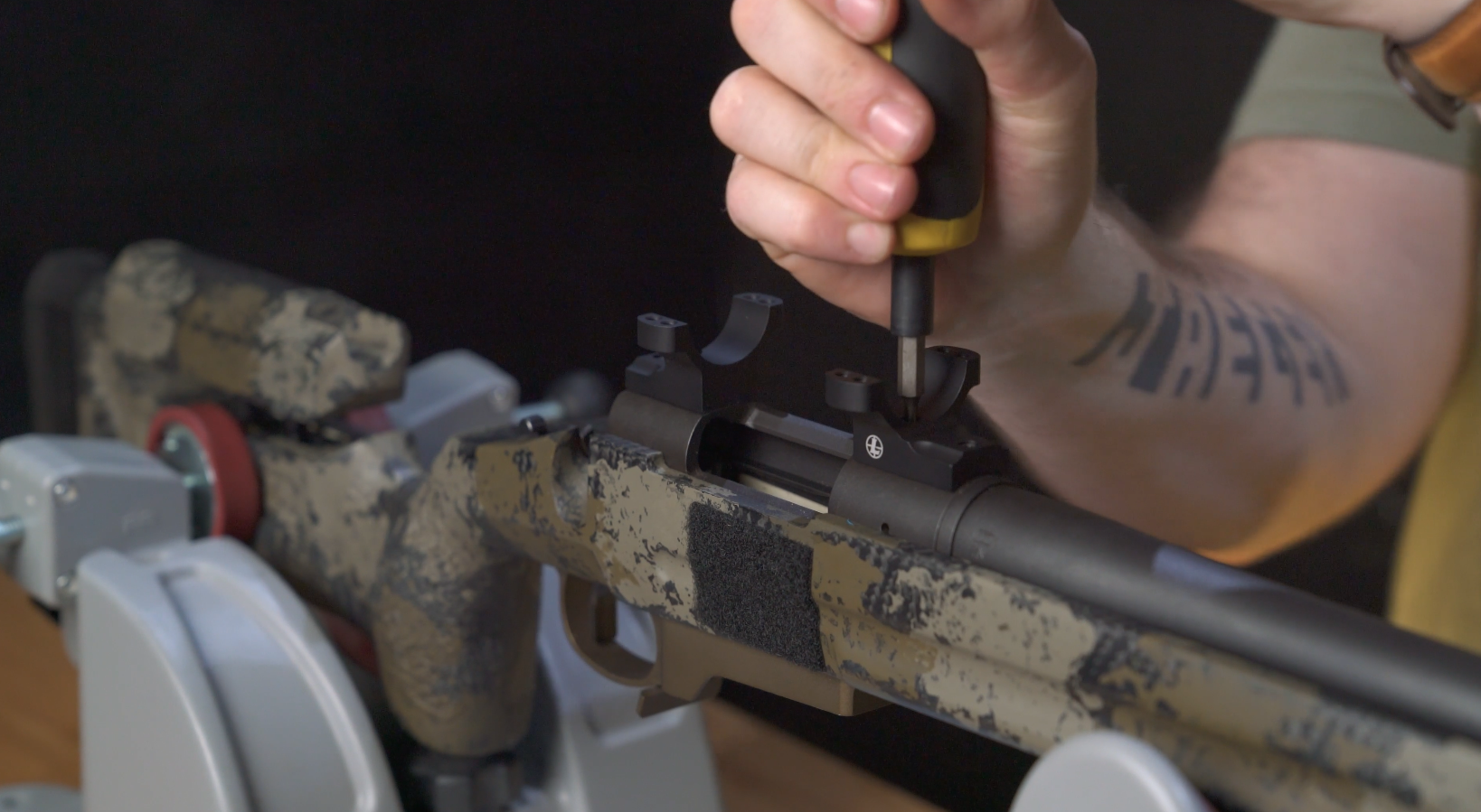 installing mounts on rifle
