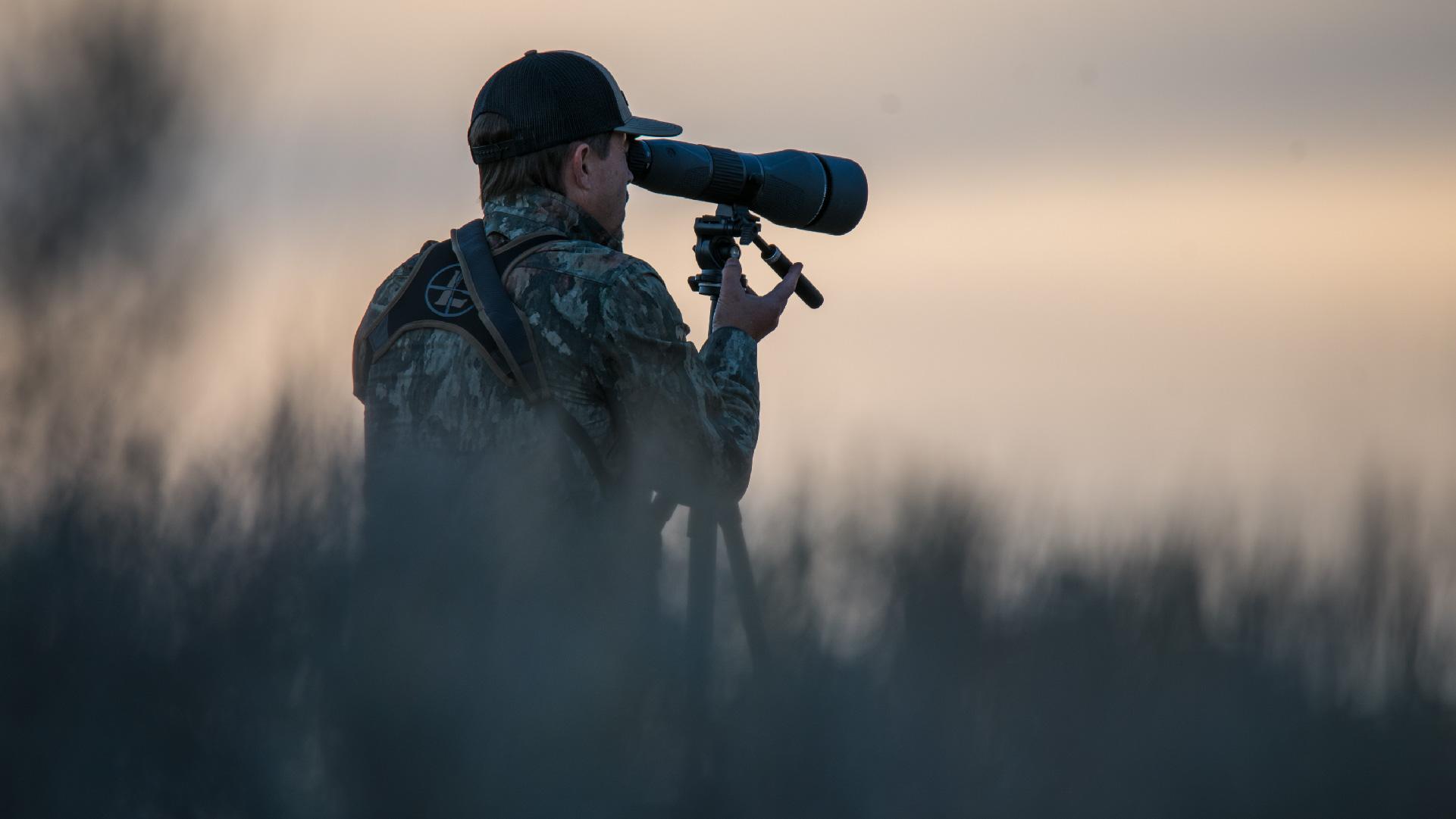 Hunter glasses through Leupold spotting scope.