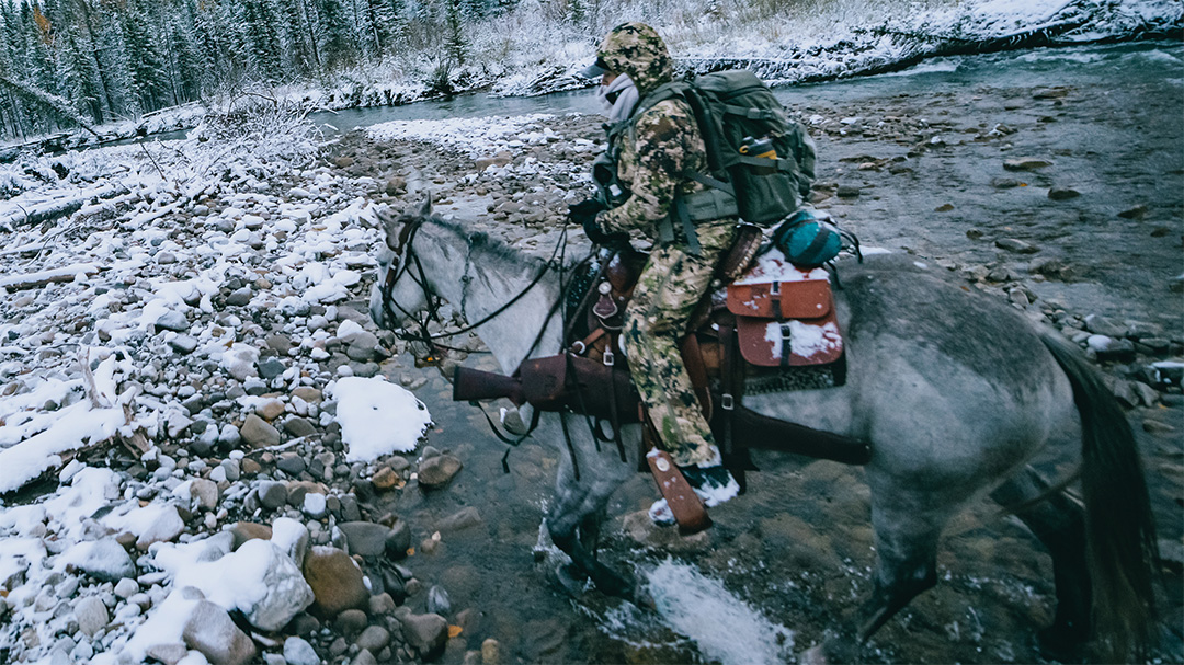 Core insider hunter in the backcountry